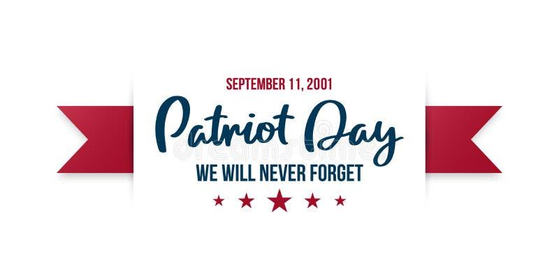 9/11 achtergrond van de Patriotdag stock illustratie