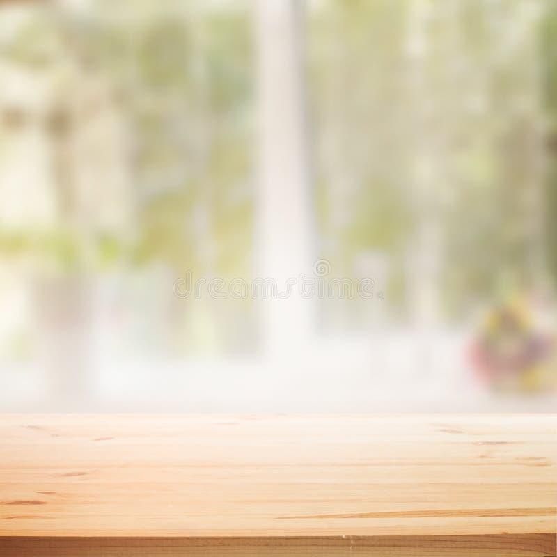 Achtergrond van de perspectief de houten lijst stock illustratie