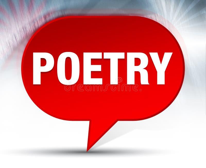 Achtergrond van de poëzie de Rode Bel royalty-vrije illustratie
