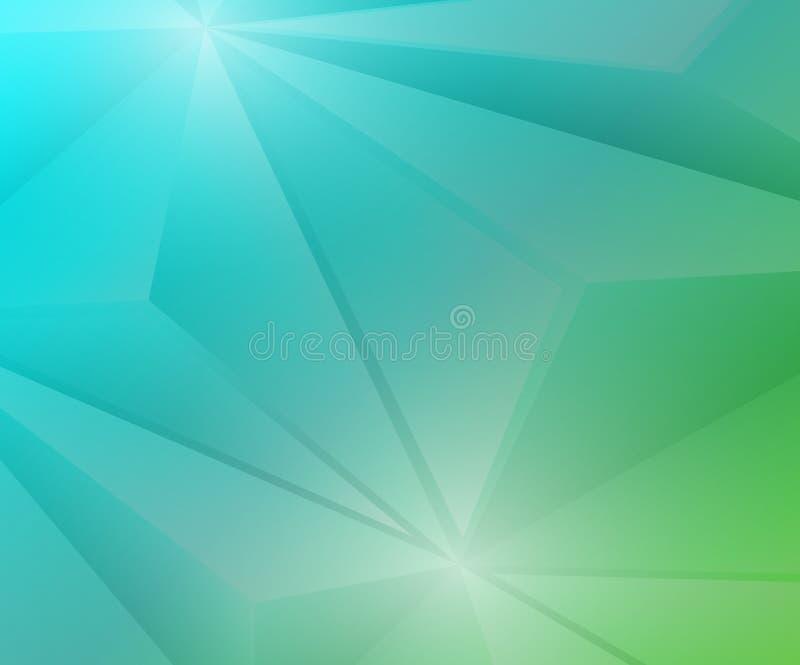 Achtergrond van de Poligon de Geometrische Groene en Blauwe Gradiënt royalty-vrije illustratie