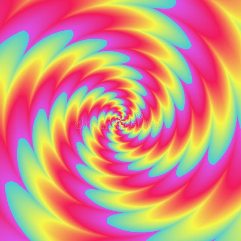Achtergrond van de Psychadelic de abstracte illustratie vector illustratie