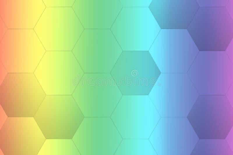 Achtergrond van de regenboog hexagon gradiënt - illustratie vector illustratie