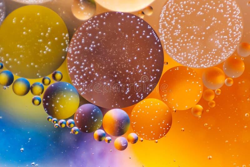 Achtergrond van de spectaculaire de ?Kosmos in de vorm van multicolored cirkels royalty-vrije stock foto's