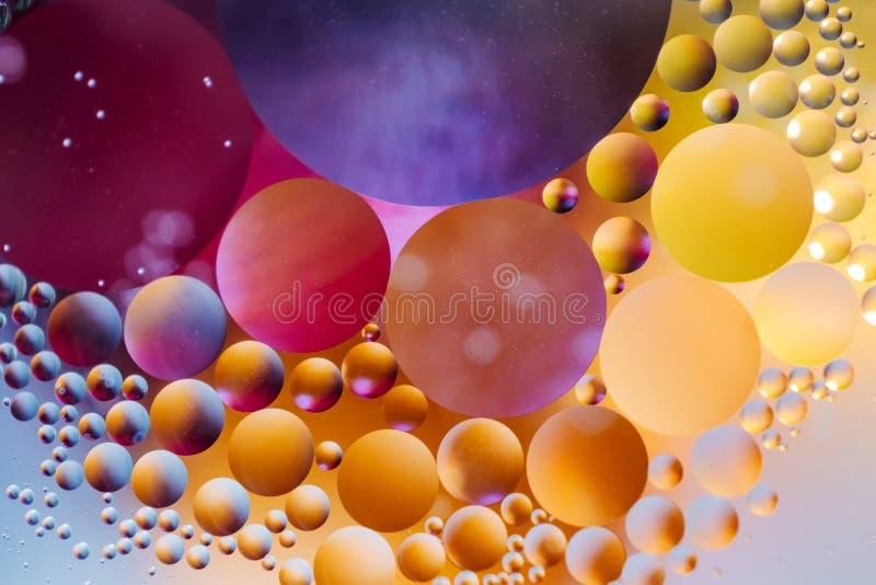 Achtergrond van de spectaculaire de ?Kosmos in de vorm van multicolored cirkels stock afbeelding