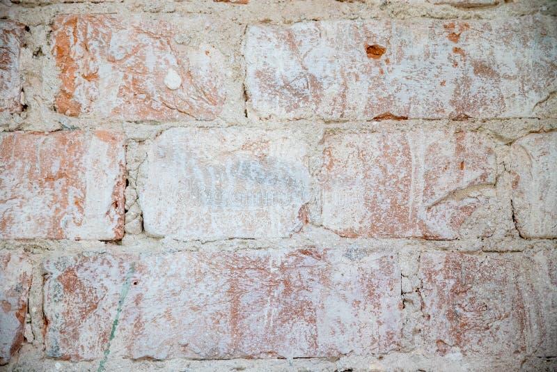 Achtergrond van de verlagings de Rode Oude Uitstekende Stedelijke Bakstenen muur Retro Vierkante Behang van Brickwall Sjofele Gru royalty-vrije stock afbeelding