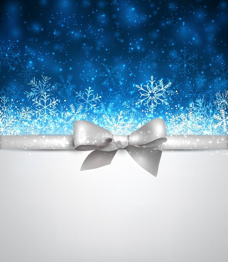 Achtergrond van de winter de blauwe Kerstmis stock illustratie
