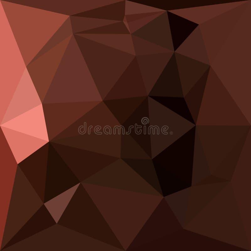 Achtergrond van de zadel de Bruine Abstracte Lage Veelhoek vector illustratie
