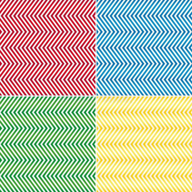 Achtergrond van de zigzag de naadloze vectortextuur vector illustratie