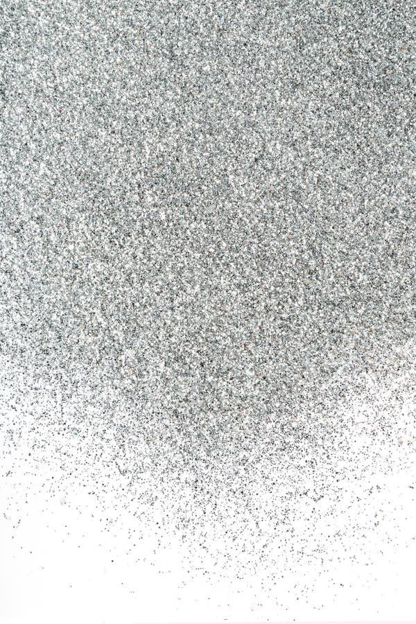 Achtergrond van de zilveren fonkelingen op wit royalty-vrije stock foto's