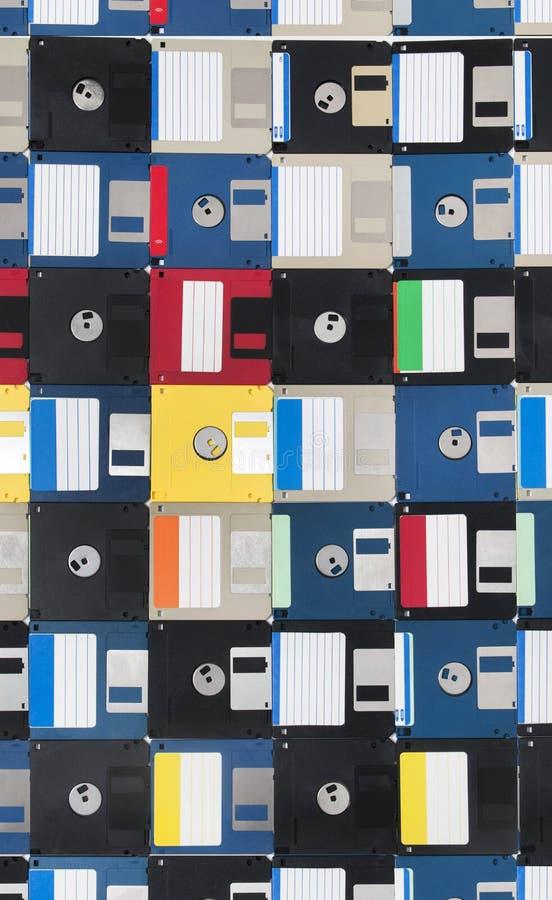 achtergrond van diskettes stock afbeelding