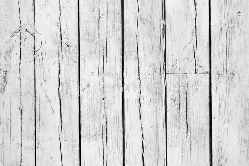 Achtergrond van doorstaan wit geschilderd hout royalty-vrije stock afbeeldingen