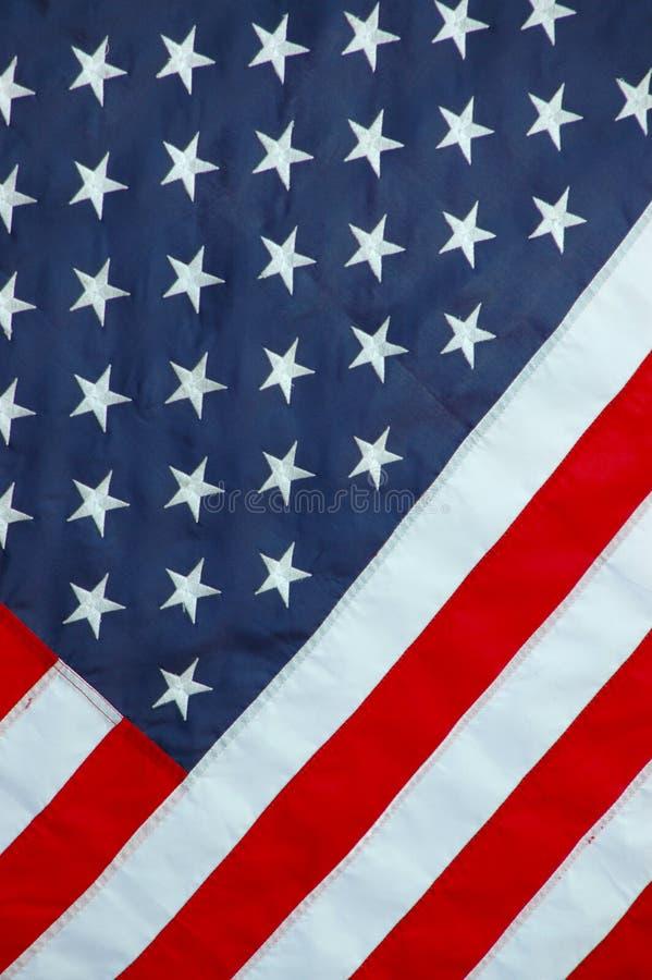 Achtergrond van een Amerikaanse Vlag stock fotografie