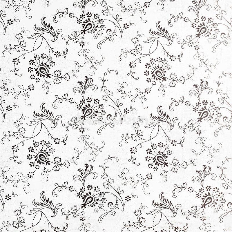 Achtergrond van een herhalings botanisch patroon stock afbeeldingen