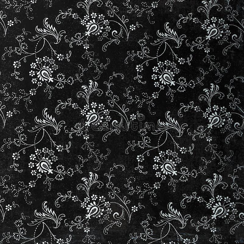 Achtergrond van een herhalings botanisch patroon stock foto