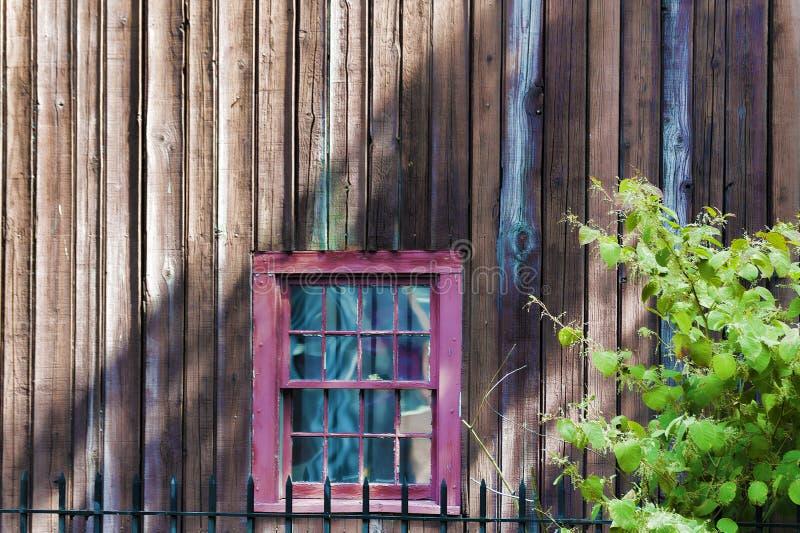 Achtergrond van een venster aan kant van de bouw stock foto