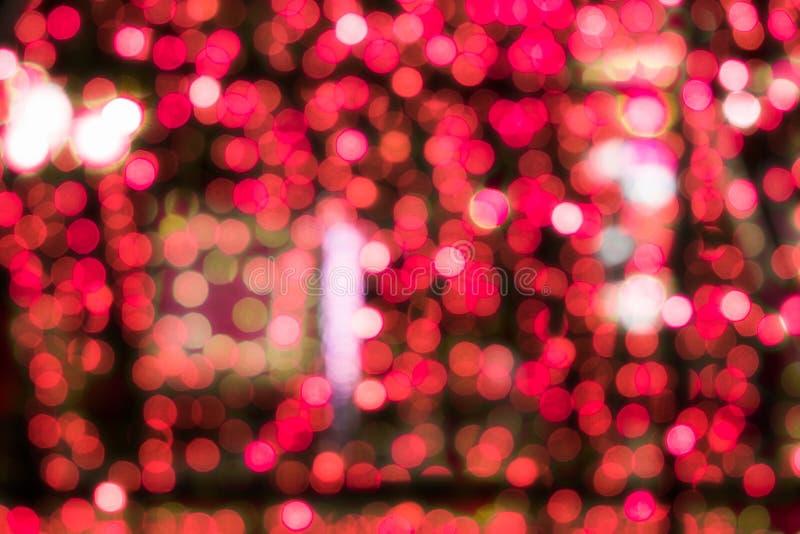 Achtergrond van festival defocused de rode bokeh licht stock afbeeldingen