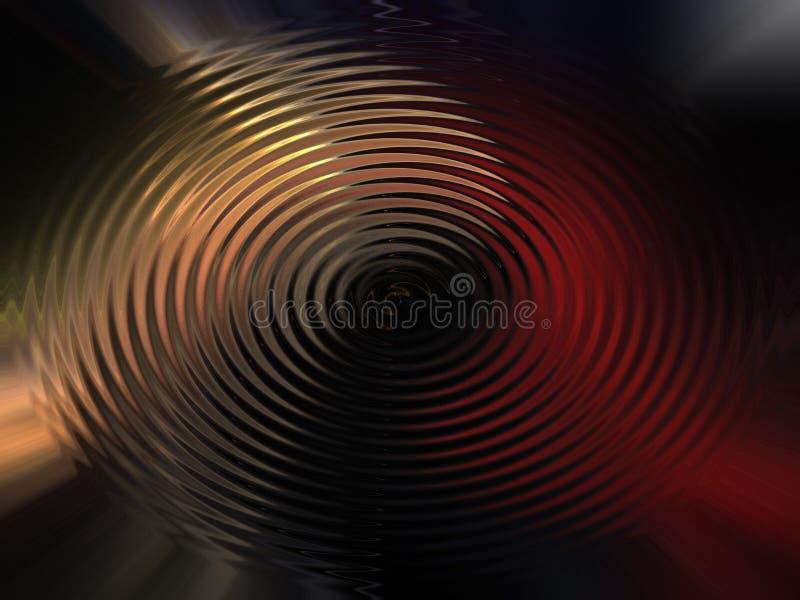 Achtergrond van gekleurde cirkelgolven stock afbeelding