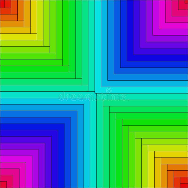 Achtergrond van gekleurde rechthoeken royalty-vrije illustratie