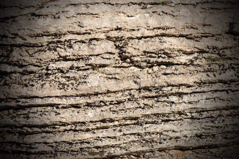 Achtergrond van Gelaagde Rots - Steen van Lessinia Italië royalty-vrije stock fotografie