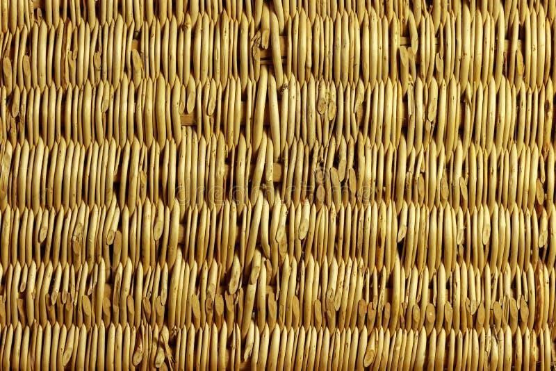 Achtergrond van gevlechte wilgentakken stock fotografie