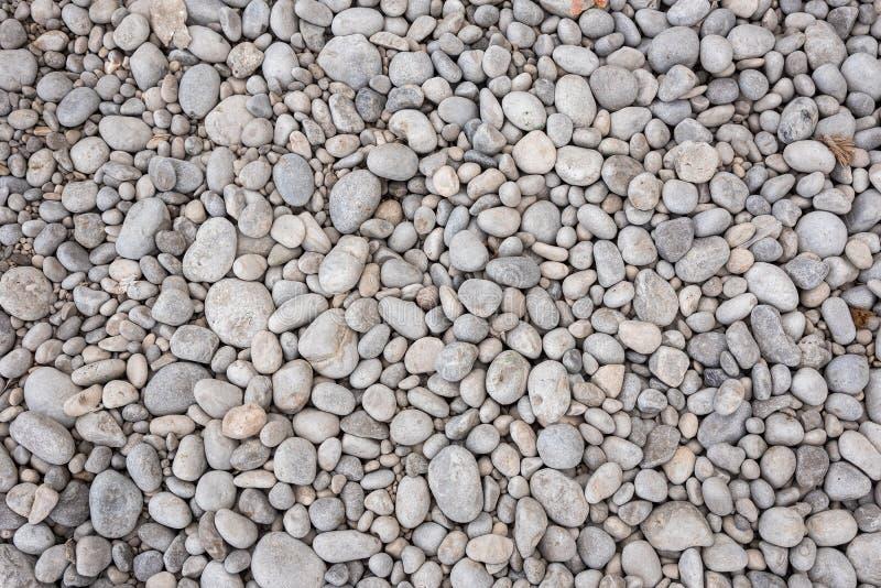 Achtergrond van grijze kiezelstenen wordt gemaakt die royalty-vrije stock foto