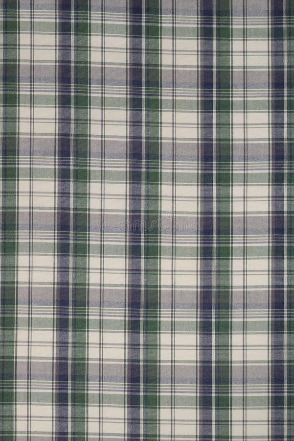 Achtergrond van Groene, Zwart-witte Plaiddoek stock afbeeldingen