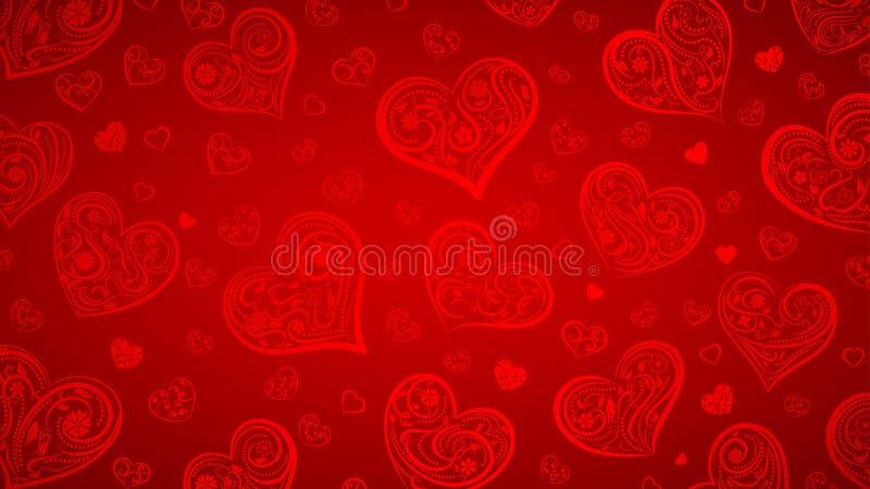 Download Achtergrond Van Grote En Kleine Harten Vector Illustratie - Illustratie bestaande uit valentine, liefde: 107700525