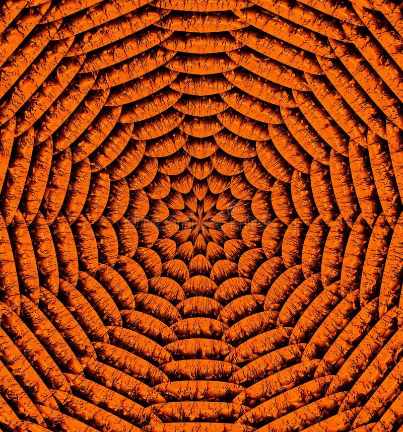 Achtergrond van het Abstrac de bruine en gouden geometrische patroon stock foto's