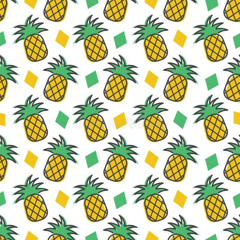 Achtergrond van het ananas de naadloze patroon vector illustratie
