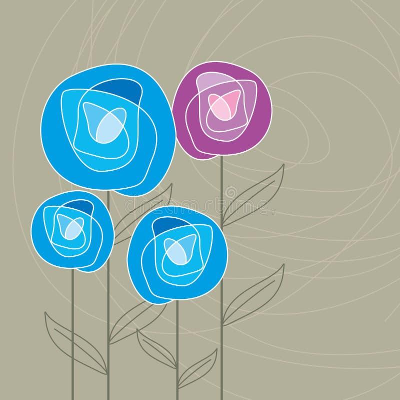 Achtergrond van het bloemen de Naadloze Patroon royalty-vrije illustratie