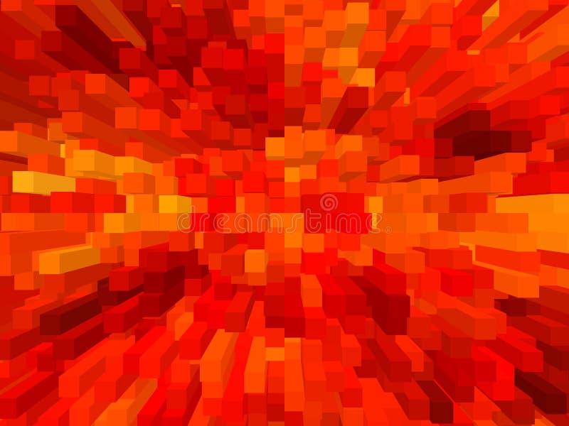 Achtergrond van het het blok de abstracte patroon van de kunst rode kleur stock illustratie