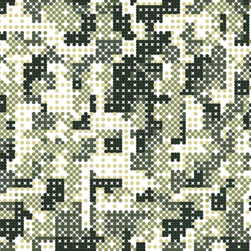 Achtergrond van het camouflage de militaire halftone patroon Vectorillustratie, EPS royalty-vrije illustratie
