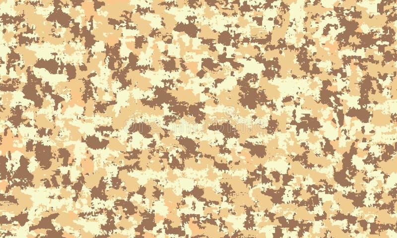 Achtergrond van het camouflage de militaire Naadloze patroon Klassieke kledingsstijl het maskeren camo herhaalt de woestijntextuu vector illustratie