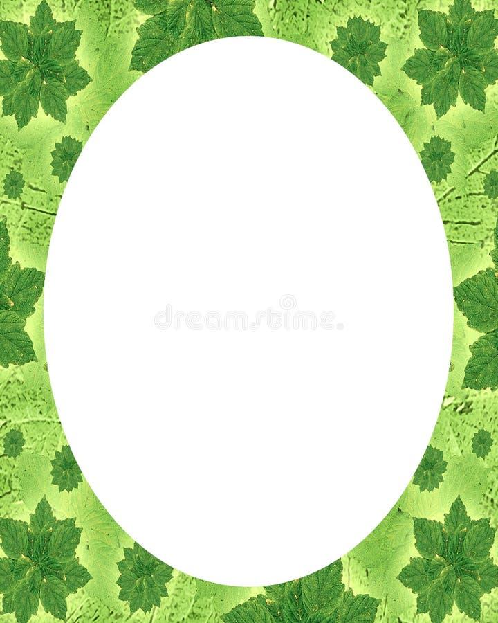 Achtergrond van het cirkel de Witte Kader met Verfraaide Grenzen vector illustratie
