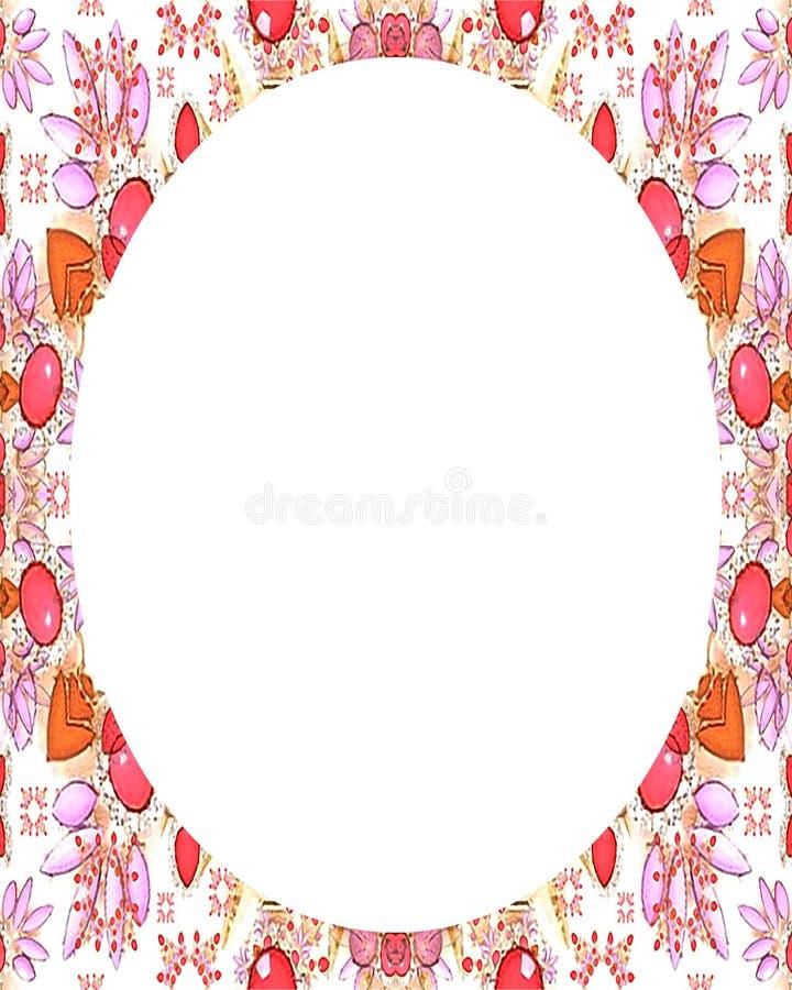 Achtergrond van het cirkel de Witte Kader met Verfraaide Grenzen royalty-vrije illustratie