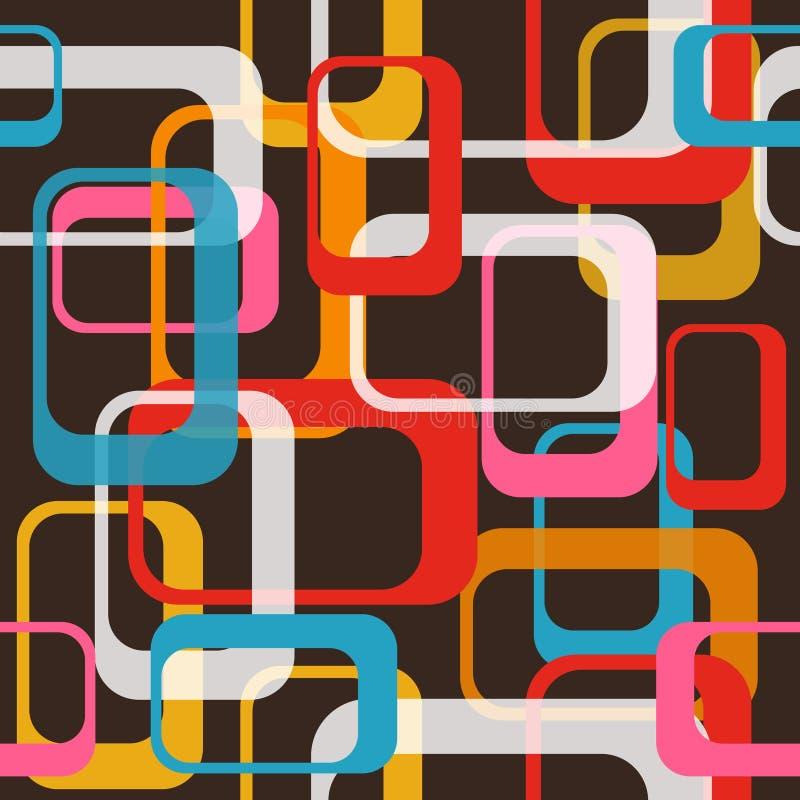 Achtergrond van het de jaren '80 de Gelukkige Naadloze Patroon Vector ontwerp royalty-vrije illustratie