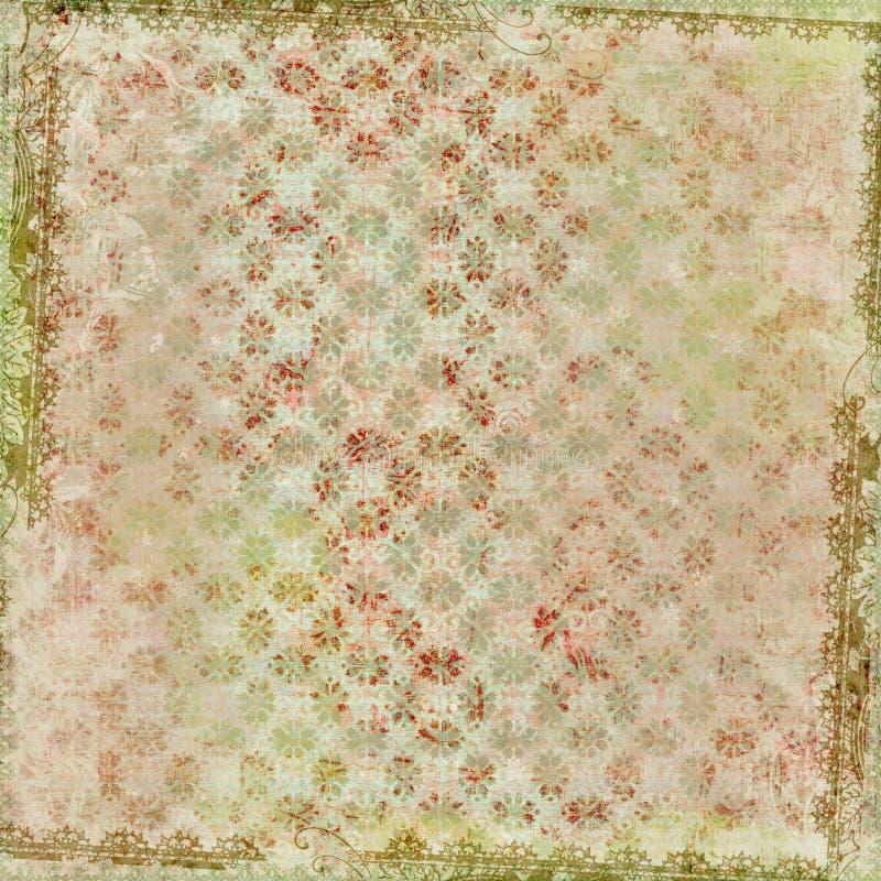 Achtergrond van het Frame van het Ontwerp van de Batik van Artisti de Bloemen royalty-vrije stock fotografie