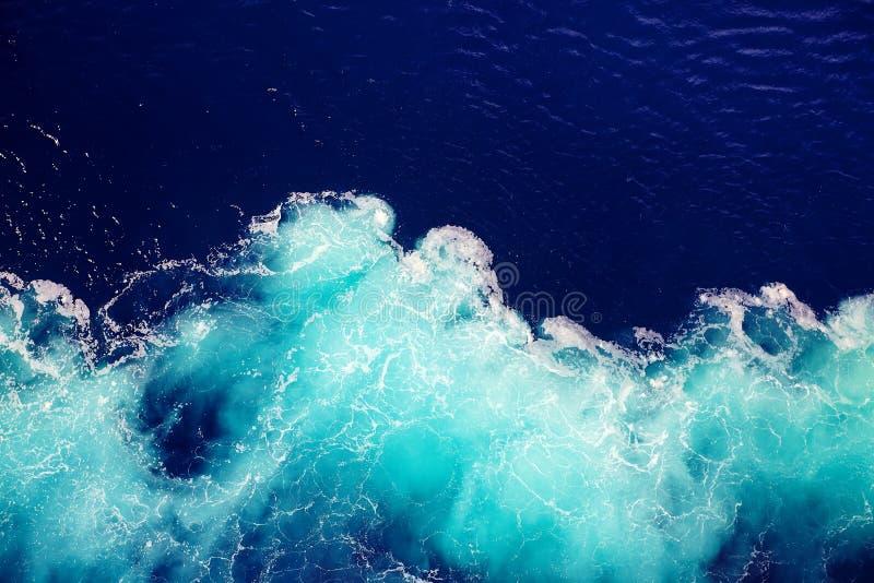 Achtergrond van het golf de oceaanwater stock foto