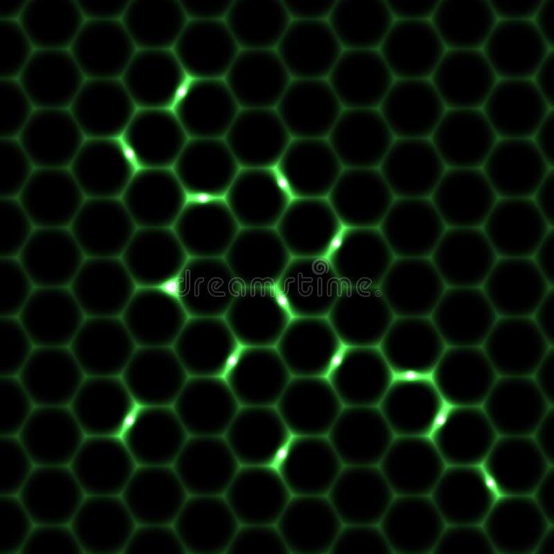 Achtergrond van het honingraat de naadloze patroon stock illustratie