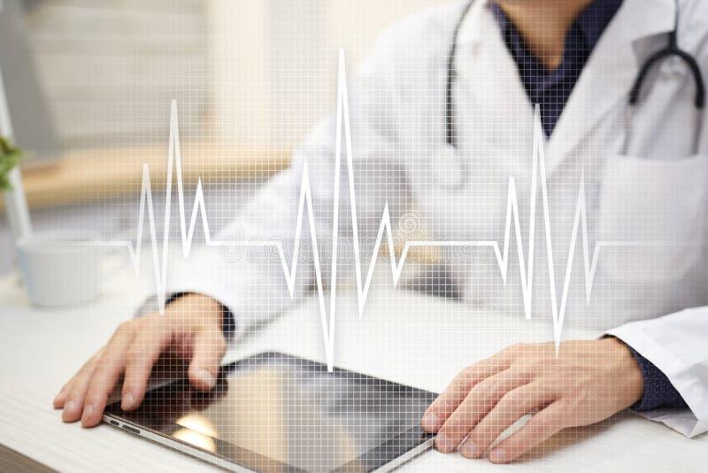 Achtergrond van het impuls de medische concept Geneeskunde en gezondheidszorg royalty-vrije stock afbeeldingen