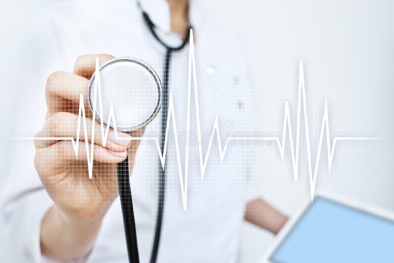 Achtergrond van het impuls de medische concept Geneeskunde en gezondheidszorg royalty-vrije stock foto