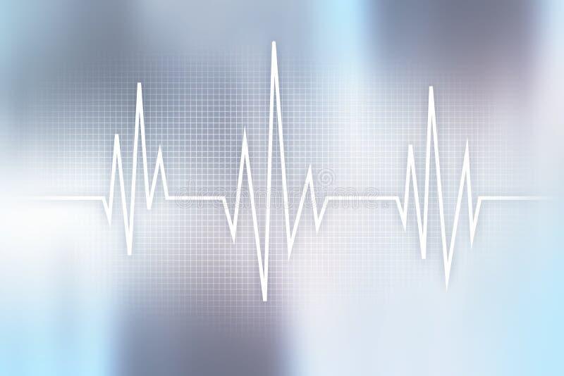 Achtergrond van het impuls de medische concept Geneeskunde en gezondheidszorg stock illustratie