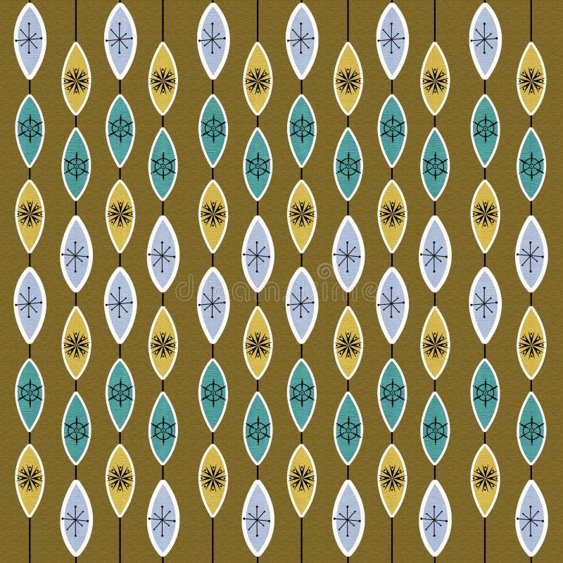 achtergrond van het jaren '50 retro patroon royalty-vrije illustratie