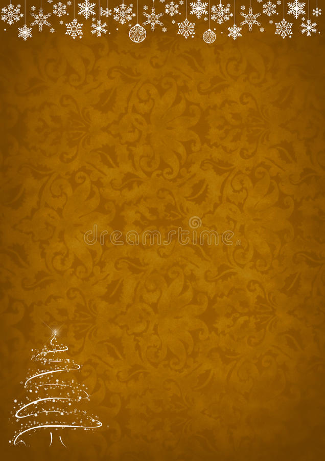Achtergrond van het Kerstmis de gouden patroon stock afbeelding