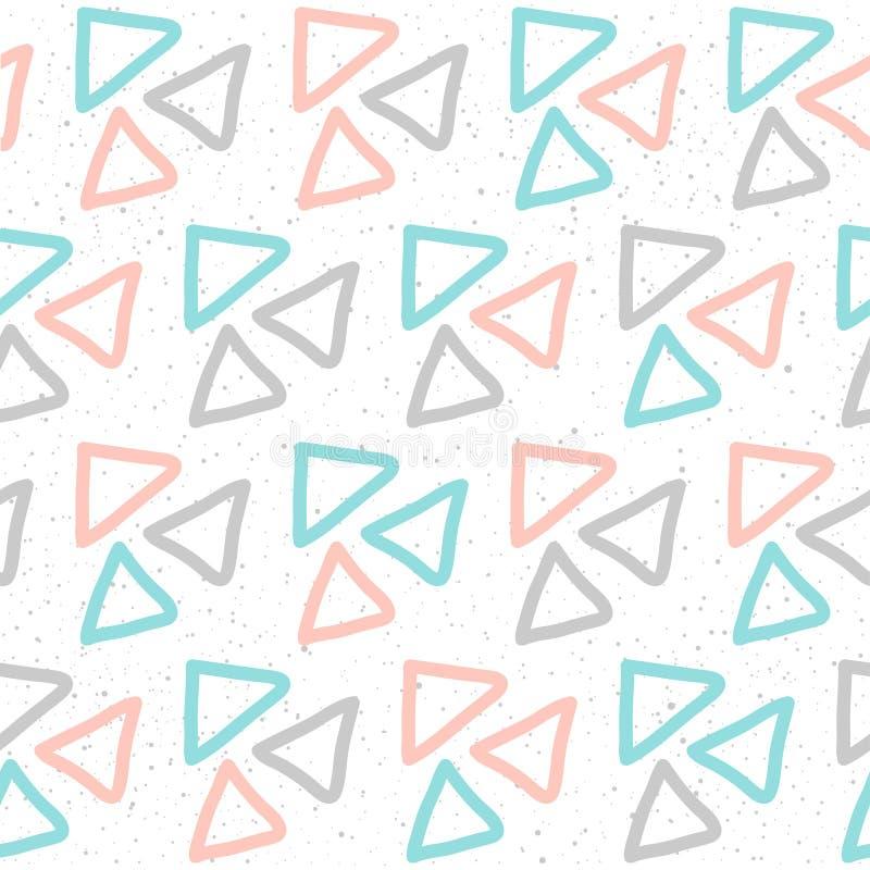 Achtergrond van het krabbel de met de hand gemaakte naadloze patroon stock illustratie