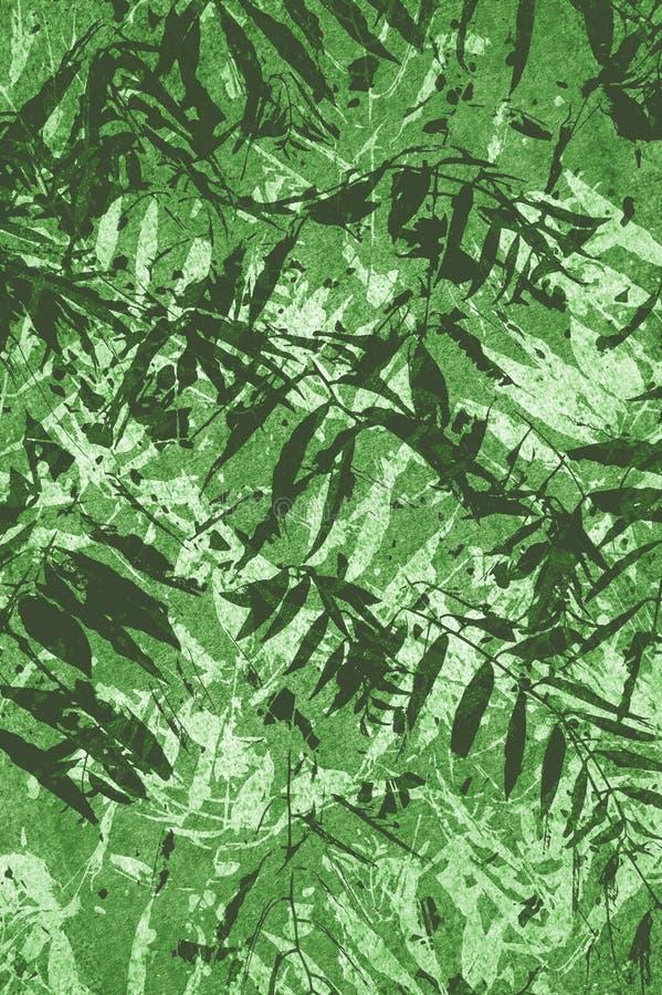 Achtergrond van het kunst grunge de groene abstracte patroon royalty-vrije illustratie