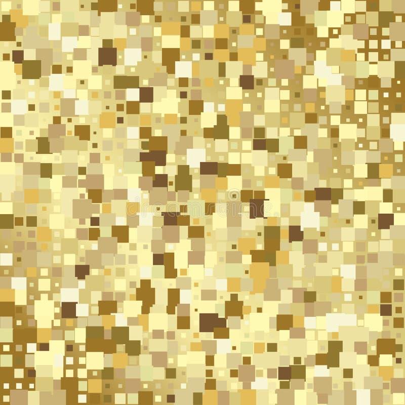 Achtergrond van het luxe de gouden mozaïek of gouden vierkante tegelstextuur royalty-vrije illustratie
