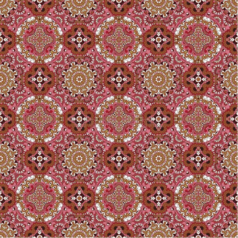 Achtergrond van het luxe de kleurrijke bloemen naadloze patroon stock afbeeldingen
