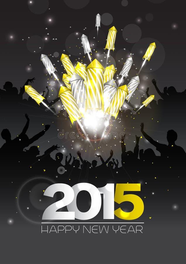 Achtergrond van het luxe de nieuwe jaar met vuurwerk royalty-vrije stock afbeelding