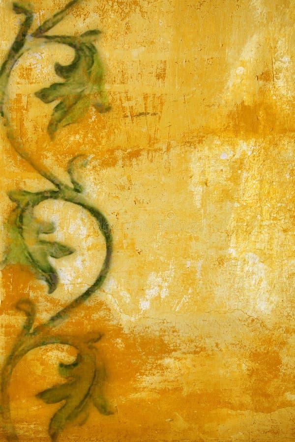 Achtergrond van het Patroon van de kunst grunge de Bloemen royalty-vrije stock afbeelding